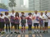 Palu Charity Run' di FX Plaza yang melewati rute Car Free Day (CFD), Jakarta, Minggu (14/10) - foto: Bob/Koranjuri.com
