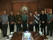 Rombongan KPU Provinsi Bali melakukan audiensi kepada Pangdam IX/Udayana Mayjen TNI Benny Susianto, Rabu, 21 November 2018 - foto: Istimewa