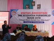 Proses penilaian akreditasi di SMK Kesehatan Purworejo, dari Badan Akreditasi Nasional Sekolah/Madrasah, Senin (26/11) - Selasa (27/11) - foto: Sujono/Koranjuri.com
