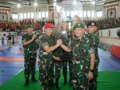 Kontingen Kopassus memboyong Piala Bergilir Kasad dalam Kejurnas Yongmoodo Kasad Cup Ke-8 yang berlangsung di Bali - foto: Istimewa