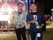 Ketua Himpunan Bartender Indonesia (HBI) Bali Bayu Hendra dan Ketua Panitia Arak Bali Festival Komang Swasta - foto: Koranjuri.com