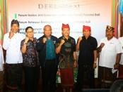 Forum Mitigasi Bencana menggelar deklarasi di Auditorium Sri Kesari, Universitas Warmadewa, Denpasar, Kamis, 20 Desember 2018 - foto: Istimewa