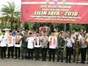 Apel Gelar Pasukan Dalam Rangka Operasi Kepolisian Terpusat Lilin Jaya 2018 bertempat di Lapangan Sepatu Roda, Monas, Gambir, Jakarta Pusat. Jumat (21/12/18) - foto: Bob/Koranjuri.com