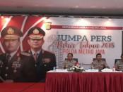 Kapolda Metro Jaya Irjen Pol Idham Azis menyampaikan rilis akhir tahun dan sejumlah pencapaian di Mapolda Metro Jaya, Jumat (28/12/2018) - foto: Istimewa