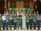 Hari ulang tahun Korps Wanita Angkatan Darat (KOWAD) diperingati secara sederhana oleh Kowad yang ada di wilayah Garnizun Denpasar, perwakilan Kowal Lanal Denpasar, Wara Lanud Ngurah Rai dan Polwan Polda Bali. Acara syukuran berlangsung di Makodam IX/Udayana, Jumat, 28 Desember 2018 - foto: Istimewa