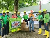Tim relawan bencana PT Bumi Suksesindo (BSI) bertolak menuju Pandeglang, Banten untuk membantu korban tsunami Selat Sunda (25/12/2018) - foto: Istimewa
