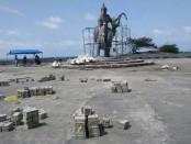 Lokasi pembangunan landsekap kawasan/ plaza Pantai Jatimalang - foto: Sujono/Koranjuri.com