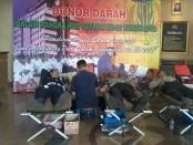 Aksi sosial donor darah yang diadakan Polda Metro Jaya menyambut HUT Satpam Ke-38 - foto: Istimewa