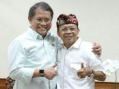 Gubernur Bali Wayan Koster bersama Menteri Komunikasi dan Informatika RI Rudiantara - foto: Istimewa