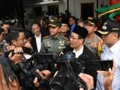 Kampanye pemilu damai dilakukan lintas elemen di Jakarta. Kegiatan itu diinisiasi oleh unsur tiga pilar Jakarta Pusat yakni, Pemerintah, Polres dan TNI - foto: Istimewa