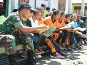 Bersama warga, Yonif Mekanis 741/GN ditugaskan sebagai Satgas Pamtas RI-RDTL Sektor Barat dengan  wilayah meliputi Kabupaten Timor Tengah Utara, Provinsi Nusa Tenggara Timur - foto: Istimewa