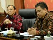 Gubernur Bali I Wayan Koster memimpin rapat pemaparan Pembangkit Listrik Tenaga Sampah (PLTSa) bersama PT Indonesia Power di Ruang Rapat Praja Sabha Kantor Gubenrur Bali Denpasar, Rabu (13/2/2019) - foto: Istimewa