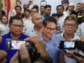 Calon wakil Presiden nomor urut 02, Sandiaga Salahudin Uno saat menghadiri acara Teras Dialog yang diadakan di YYDiaz Center, Renon, Denpasar, Sabtu, 23 Februari 2019 – foto: Koranjuri.com