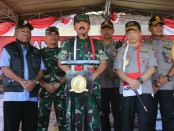 Panglima TNI Mayjen TNI Marsekal Hadi Tjahjanto bersama Kapolri Jendral Tito Karnavian berada di Sentani Jayapura - foto: Istimewa