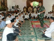 Pangdam IX/Udayana Mayjen TNI Benny Susianto menggelar doa bersama anak-anak Panti Asuhan dari enam yayasan - foto: Istimewa
