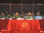 Panglima TNI Marsekal TNI Hadi Tjahjanto pemaparan Tactical Floor Game (TFG) Kesiapan Pengamanan Pemilu serentak 2019  - foto: Istimewa