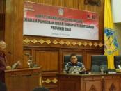Gubernur Bali Wayan Koster membuka Rapat Koordinasi dan Evaluasi Program Pemberantasan Korupsi terintegrasi Provinsi Bali di Gedung Wiswa Sabha Utama, kantor Gubernur Bali, Jumat (15/3/2019) siang - foto: Istimewa