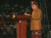 Wakil Presiden Jusuf Kalla membuka Dharma Santi Nasional 2019 di Panggung Ardha Candra, Taman Budaya Denpasar, Sabtu, 6 April 2019 - foto: Istimewa