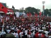 Capres nomer urut 01 Joko Widodo menggelar Rapat Umum Terbuka Solo Bersatu Menangkan Jokowi-Ma'ruf Amin di Stadion Sriwedari Solo, Jawa Tengah, Selasa, 9 April 2019 - foto: Djoko Judiantoro/Koranjuri.com