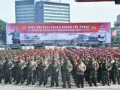 Apel Patroli Skala Besar TNI/Polri dalam rangka menjamin keamanan masyarakat Sampai ke TPS, Minggu, 14 April 2019 - foto: Istimewa