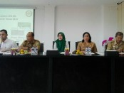 BPJS Kesehatan Cabang Denpasar menggelar konferensi pers terkait pelayanan pada mudik Lebaran 2019 - foto: Koranjuri.com