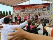 'Terima Kasih Indonesiku' menjadi panggung hiburan untuk masyarakat yang digelar di Lapangan Puputan Renon, Denpasar, Minggu, 5 Mei 2019 pagi hari - foto: Istimewa