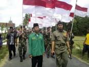 Ribuan Banser di Kebumen tolak People Power - foto: Sujono/Koranjuri.com