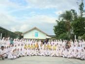 Siswa kelas XII SMK kesehatan Purworejo, dari kejuruan Keperawatan dan Farmasi, yang dinyatakan lulus uji kompetensi dari BNSP - foto: Sujono/Koranjuri.com
