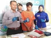 HS (34), seorang sopir angkot warga Desa/Kecamatan Butuh, Purworejo, kini ditahan di Mapolres Purworejo karena telah menyetubuhi pelajar dibawah umur - foto: Sujono/Koranjuri.com