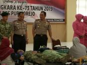 Kegiatan donor darah yang diselenggarakan Polres Purworejo dalam rangka memperingati HUT Bhayangkara yang ke 73, Selasa (18/6) - foto: Sujono/Koranjuri.com