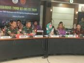 Rapat Koordinasi Teknis (Rakornis) TMMD ke-105 kali ini, dilakukan melalui Video Conference yang dipimpin Kasad Jenderal TNI Andika Perkasa dan Menteri Sosial RI Agus Gumiwang K di Aula A.H. Nasution Mabesad, Kamis (20/6/2019) - foto: Istimewa