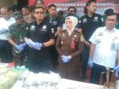Pemusnahan barang bukti memperingati Hari Anti Narkotika Internasional (HANI) - foto: Bob/Koranjuri.com