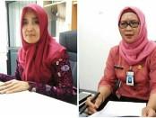 dr Sudarmi, MM, Kepala Dinas Kesehatan Kabupaten Purworejo (kiri), dan Ekaningtyas D, S.Kep, Ns, MM (kanan), Sekretaris Dinas Kesehatan Kabupaten Purworejo - foto: Sujono/Koranjuri.com