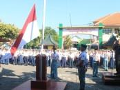 Upacara pembukaan kegiatan MPLS bagi siswa baru di SMK TKM Purworejo - foto: Sujono/Koranjuri.com