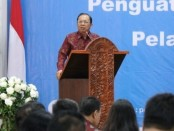 Gubernur Bali Wayan Koster membuka Workshop dan Penandatangan Penguatan Unit Pengelolaan Pengaduan Pelayanan Publik yang diinisiasi oleh Ombudsman RI Perwakilan Bali di Hotel Inna Bali Heritage, Denpasar pada Selasa, 30 Juli 2019 - foto: Istimewa