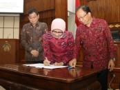 Penandatanganan Perjanjian Kerjasama dengan PT. PLN (Persero) di ruang Wiswa Sabha Utama Kantor Gubernur Bali, Rabu, 21 Agustus 2019 - foto: Istimewa