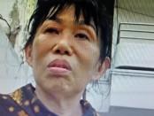 Pengacara Sanny Suharli merilis wajah korban Kon Siw Lie tidak tampak ada luka maupun memar dan tidak biru lebam, beberapa menit setelah kejadian - foto: Istimewa