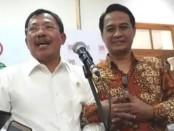 Menteri Kesehatan (Menkes), Letjen TNI (Purn) Dr. dr. Terawan Agus Putranto, Sp.Rad (K), mengunjungi Kantor Pusat Pengurus Besar Ikatan Dokter Indonesia (IDI) di Menteng, Jakarta Pusat pada Rabu (30/10/2019) - foto: Istimewa
