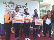 Pembalap ISSI Solo Annisa Destein Cindyqiawati meraih juara pertama di kelas Women Elite pada kejuaraan Le Tour de Klaten - foto: Istimewa