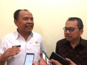 Bupati Kabupaten Bangli Made Gianyar (kiri) dan Kepala Perwakilan BI Bali Trisno Nugroho - foto: Istimewa