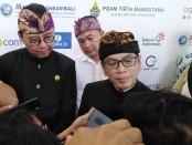 Menparekraf Wishnutama Kusubandio di Nusa Dua Bali, Jumat, 22 November 2019 - foto: Koranjuri.com