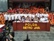 Sebanyak 3.314 preman atau orang yang diduga pelaku tindak pidana, terjaring aparat Polda Metro Jaya dalam Operasi Sikat Jaya 2019 - foto: Bob/Koranjuri.com
