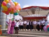 Launching maskot Pilkada Purworejo 2020, Minggu (1/12), di tugu kembar alun-alun Purworejo - foto: Sujono/Koranjuri.com