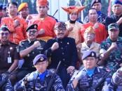 Wagub Bali Cokorda Oka Artha Ardana Sukawati saat menjadi inspektur pada apel Bela Negara di Lapangan Puputan Margarana Renon, Denpasar, Kamis, 19 Desember 2019 - foto: Istimewa