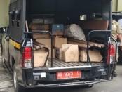 Ribuan botol miras dari berbagai jenis dan merk, yang berhasil disita Satpol PP dan Damkar Kabupaten Purworejo, menjelang tahun baru - foto: Sujono/Koranjuri.com