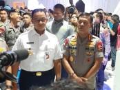 Gubernur DKI Anies Baswedan dan Kapolri Idham Aziz menghadiri launching Electronic Traffic Law Enforcement (E-TLE) yang dikembangkan oleh Direktorat Lalu Lintas Polda Metro Jaya - foto: Bob/Koranjuri.com