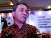 Dirjen Kebudayaan Kemendikbud RI Hilmar Farid usai penutupan Rakornas Kebudayaan di Hotel Westin, Nusa Dua, Bali, Jumat, 20 Desember 2019 - foto: Koranjuri.com