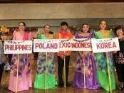 Negara-negara yang mengikuti Bayanihan Festival 2019 di Manila, Filipina - foto: Istimewa
