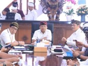 Rapat koordinasi dalam menghadapi arus Puncak Libur Tahun Baru 2020. Rapat diadakan di Rumah Jabatan Gubernur Bali, Jaya Sabha, Denpasar Kamis (26/12/2019) - foto: Istimewa