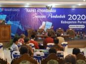 Rapat koordinasi Sensus Penduduk 2020 di ruang Arahiwang Setda Kabupaten Purworejo, Kamis (6/2) - foto: Sujono/Koranjuri.com